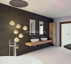 Modernes Bad Mit Braun-silbernen Fliesen Und Ebenerdiger Dusche ... Badezimmer Inspiration