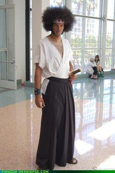 Saku AFK's Afro Samurai cosplay. Spot. On.