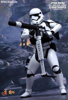 Star Wars: First Order Heavy Gunner Stormtrooper | Typ: Deluxe-Figur (voll beweglich) | Hersteller: Hot Toys | https://spaceart.de/produkte/sw098.php