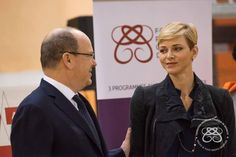 Princess Charlene and Prince Albert at International Day of Sport