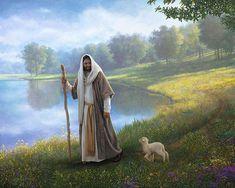 Little Lamb by Greg Olsen Greg Olsen Art, Jesus Paid It All, Pictures Of Jesus Christ, Jesus Painting, Jesus Art, The Good Shepherd, Lion Of Judah, Jesus Is Lord, Painting Process