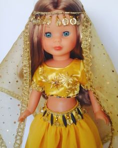 Belly-dance outfit for Nancy Girl Doll Clothes, Doll Clothes Patterns, Clothing Patterns, Girl Dolls, How To Make Clothes, Diy Clothes, Nancy Doll, Belly Dance Outfit, Journey Girls