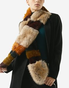 Faux fur patchwork scarf - Scarves and neck scarves Winter Sale, Fall Winter, My Wardrobe, Faux Fur, Fur Coat, My Style, Skirts, Neck Scarves, Jackets