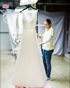 A white wedding dress always makes Mondays a little brighter