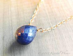 LOVE this Etsy shop!!   SALE++Lapis+Necklace++genuine+lapis+lazuli+blue+14k+by+KrisPstudio,+$30.00