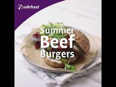 safefood summer beef burger. Healthy recipe from safefood.  All our recipes are nutritionally analysed by our team of experts. #burgers #bbq #bbqburgers #summerbbq #healthyburgers #beefburger