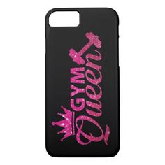 gym queen black phone cover for iphone 7 - glitter glamour brilliance sparkle design idea diy elegant Iphone 8, Apple Iphone, Mobile Phone Cases, Iphone Case Covers, Glitter Gifts, Diy Phone Case, Queen, Pink Gifts, Plastic Case