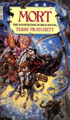 mort by terry pratchett - a discworld book : in fact the first book I read and 20+ later they are still fresh - #books help me escape into new worlds
