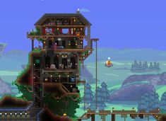 Learned to build houses by browsing this subreddit! Here is my first attempt at a house on a hill!
