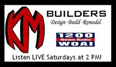 The KM BUILDERS RADIO SHOW on WOAI is moving to a new time! Now you can listen to us LIVE on Saturdays at 2 PM!  Tweet your questions to @KM BUILDERS and we'll address them live!