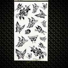 51f8c3bdfd8d1 Black Butterfly Waterproof Temporary Tattoo Stickers Women Body Art Arm Makeup  Party Tattoos Supplies GGF320 Kids Tatoo Children