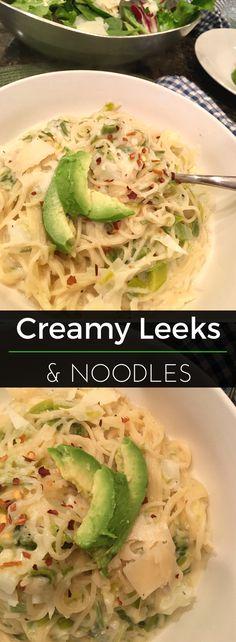 Creamy Leeks & Noodl