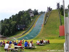 My kind of weather for watching ski jumping at the Olympic Complex in Lake Placid, New York. Rv Campgrounds, Ski Jumping, Winter Olympics, Baseball Field, Day Trips, Skiing, Weather, York, Winter Olympic Games