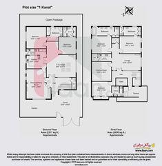 10 Marla House Plan, Ground Floor, Pakistan, House Plans, Floor Plans, Flooring, How To Plan, Drawing, Room
