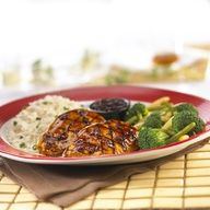 Jack Daniel's Chicken Juicy chicken breasts basted in a sweet, savory glaze and garnished. Served with seasonal vegetables, choice of cheddar cheese mashed potatoes or rice pilaf and our original Jack Daniel's ® sauce. Recipe Mix, Glaze Recipe, Great Recipes, Dinner Recipes, Favorite Recipes, Yummy Recipes, Yummy Food, Cooking With Jack, Grilling Recipes
