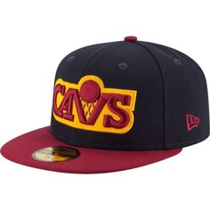 the latest 762f9 afd96 New Era Men s Cleveland Cavaliers 59Fifty Hardwood Classics Navy Burgundy  Fitted Hat 59fifty Hats,