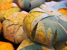 World Map Nursery Mobile for Your Little Adventurer via Etsy