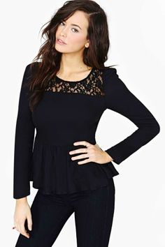 Ladakh Modern Love Top - Black
