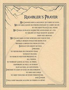 RAMBLER'S PRAYER POSTER A4 SIZE Wicca Pagan Witch Witch Goth BOOK OF SHADOWS
