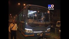 Ahmedabad: Stones pelted on BRTS bus by anti-social elements at Chandola after accident between bike and scooter.  Subscribe to Tv9 Gujarati https://www.youtube.com/tv9gujarati Like us on Facebook at https://www.facebook.com/tv9gujarati Follow us on Twitter at https://twitter.com/Tv9Gujarati Follow us on Dailymotion at http://www.dailymotion.com/GujaratTV9 Circle us on Google+ : https://plus.google.com/+tv9gujarat Follow us on Pinterest at http://www.pinterest.com/tv9gujarati/