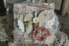 "Creative Scraps by Peggy Lee: Gypsies Moments ""Heart with Wings"" Art Canvas"