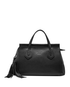Lady Tassel Medium Leather Top Handle Bag, Black by Gucci at Neiman Marcus.