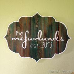 DIY Bracket-shaped Barn Board Sign sawdustandembryos.com