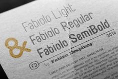 Fabiolo - free font on Behance