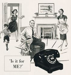 Onze oude telefoon van Kabollenhof When the phone rang you didn't know who was calling until you answered. Photo Vintage, Vintage Ads, Vintage Phones, Vintage Stuff, Vintage Advertisements, Retro Advertising, Funny Vintage, Retro Ads, Vintage Tools