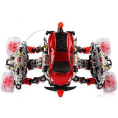 Radio Control 4Wd Eddy Drift Car Toy with 12 Functions High Speed Car Model Toy (220 - 240V Input Adapter)