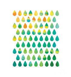 Monsoon Rain Digital Art