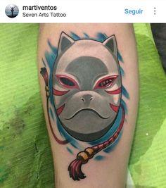 Anbu Kitsune Mask from Naruto Anbu Tattoo, Kakashi Tattoo, Mask Tattoo, Piercing Tattoo, Kakashi Anbu Mask, Itachi Uchiha, Mascara Anbu, Kitsune Mask, Hotarubi No Mori