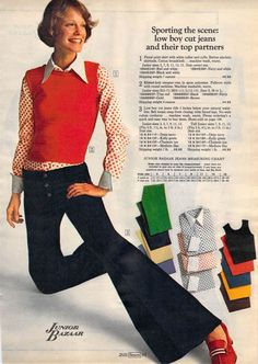 17 outta sight Sears catalog pages that will send you back to Seventies Fashion, 60s And 70s Fashion, Vintage Fashion, Hippie Fashion, Fashion Black, Fashion Fashion, Fashion Models, We Wear, How To Wear