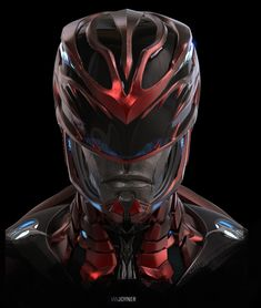An early Red Ranger helmet design for Power Rangers It was a lot of fun working with Andrew Menzies and Dean Israelite to help bring the rangers to the screen again. We did many versions of these helmets (and the other rangers too), which I will try to Ranger Verde, Power Rangers Movie 2017, Power Ragers, Arma Steampunk, Dragon Ball, Power Rangers Samurai, Helmet Design, Digital Portrait, Owl House