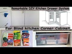 Remarkable DIY Kitchen Drawer System For Blind kitchen Corner Cabinet (Kitchen Pantry Organization) Pull Out Kitchen Storage, Kitchen Drawer Organization, Kitchen Storage Solutions, Diy Kitchen Cabinets, Kitchen Cabinet Organization, Kitchen Drawers, Kitchen Tips, Kitchen Organizers, Diy Organization