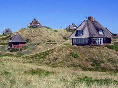 Häuser hinter den Dünen auf Sylt