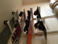 Homemade snowboard rack!