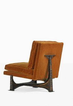 Paul Evans; Welded, Patinated and Polychromed Steel lounge Chair, c1965.