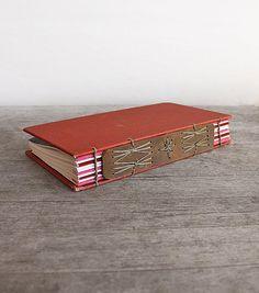 Stellar Plume Journal  Handstitched Journal with vintage by odelae, $85.00