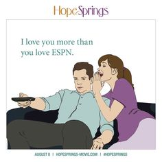 If that's not true love, we don't know what is! #HopeSprings