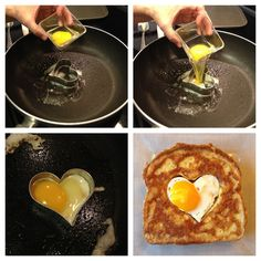 How to make bacon and eggs french toast! So cute. Can't wait to make this on valentines day!