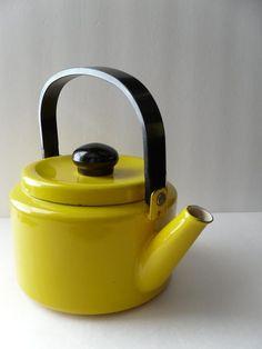 Cute yellow teapot. $27.50