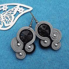 Rivoli Fern Soutache Earrings by RhodianaSoutache on Etsy Wire Earrings, Tassel Earrings, Etsy Earrings, Boho Jewelry, Jewelery, Handmade Necklaces, Handmade Jewelry, Soutache Necklace, Polymer Clay Charms
