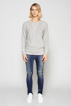 R13 Denim | Raglan Sweatshirt | MYCHAMELEON.COM.AU