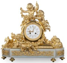 Gorgeous Napoleon III style mantle clock.