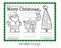 FREE!   Christmas Labeling Activity