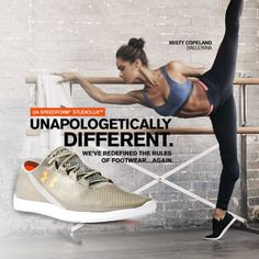 Unapologetically Different. Introducing the Under Armour SpeedForm SudioLux Shoe.
