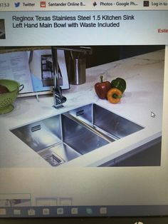 Undermount Stainless Steel Sink, Ping Pong Table, Kitchen Sink, Home Decor, Decoration Home, Room Decor, Home Interior Design, Home Decoration, Interior Design