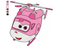 super wings dizzy 01 embroidery design more details httpwwwnewembroiderydesign - Sprout Super Wings Coloring Pages