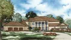 House Plan NDG-1211 are Mediterranean, Luxury House Plans. This luxurious 8484 total living square foot home plan is the essence of what the Mediterranean style is! Check these house plans out today!
